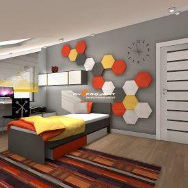 Wizualizacja. Mieszkanie prywatne. Projekt MYS Projekt.