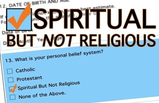 """A survey released the Pew Research Center reported that a growing number of adults in the US identify as religiously unaffiliated. While 70.6 percent say they are Christians, 22.8 percent–more than Catholics or mainline Protestants–say they are what some call """"spiritual but not religious"""" (SBNR). Most of them (69 percent) say they do believe in God, just not in organized religion."""