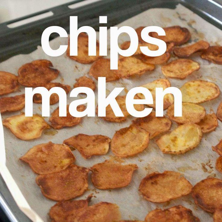 zelf chips maken aardappels