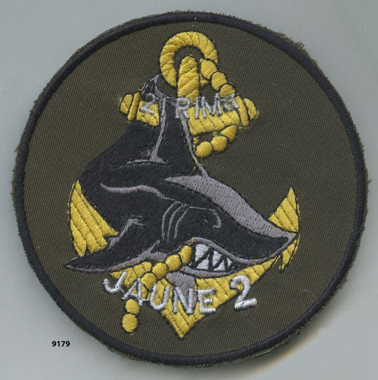 patch, 21 Rgt. d'Infanterie de Marine / jaune 2 - patch 91mm
