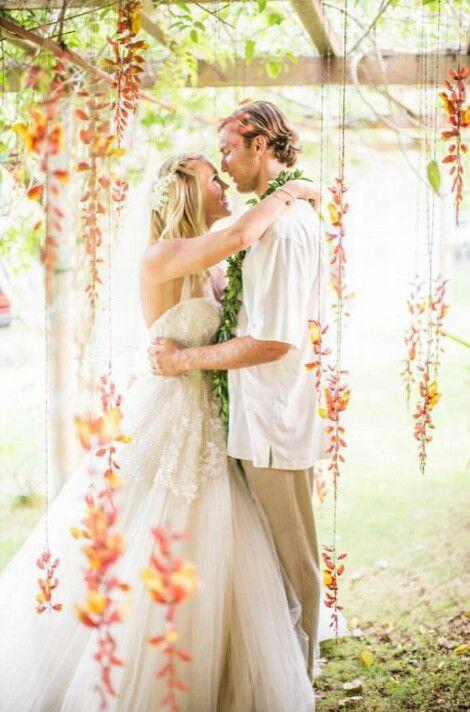 Bethany Hamilton Hawaiian Wedding! (From Bethany's official Instagram)