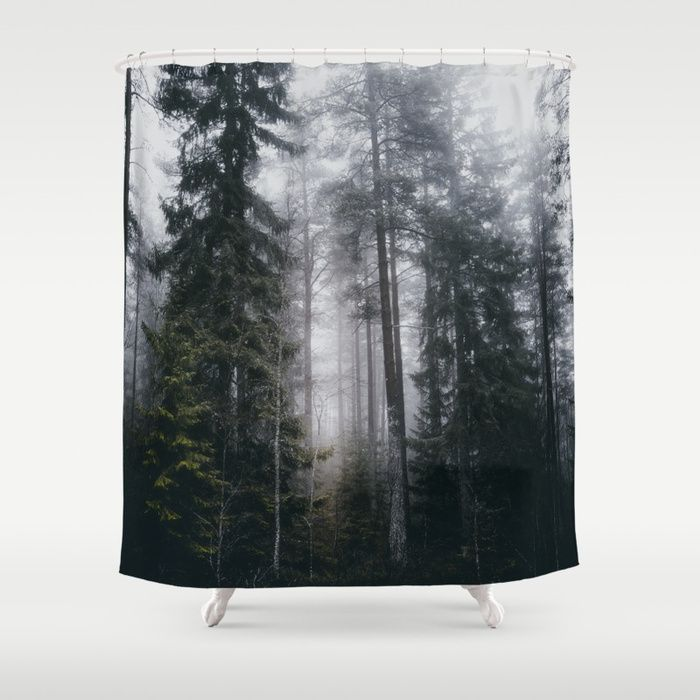 Into the forest we go Shower Curtain by HappyMelvin. #nature #forest #wanderlust #mystic #fog #homedecor #showercurtain
