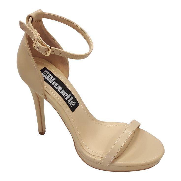 Sexy beige sandaal met hak, bandjes en een klein plateautje vind je bij Silhouette. Je hoge hakken haal je bij Silhouette, shop in Rotterdam of koop online!
