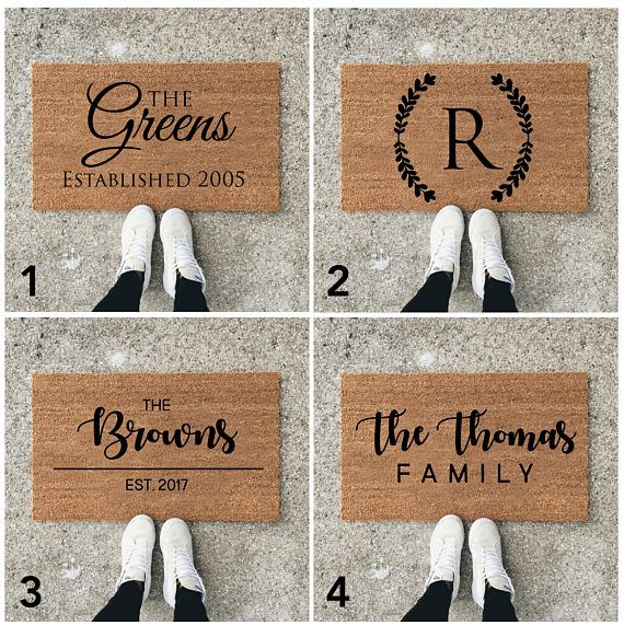 Custom Welcome Mat  Personalize Door Mat  Custom Doormat