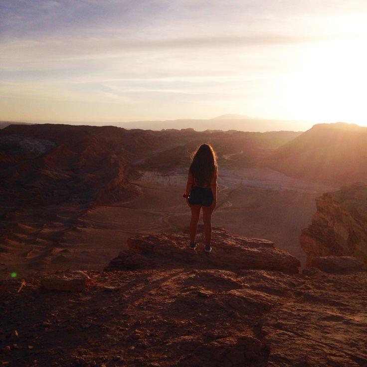 Moon Valley, famale trip, San Pedro de Atacama, desert, sunset