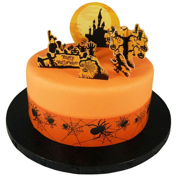 11 décorations de gâteau maison hantée en 3d - Annikids