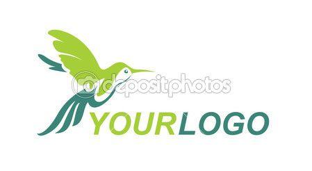 Эмблема птицы колибри — стоковая иллюстрация #64608791