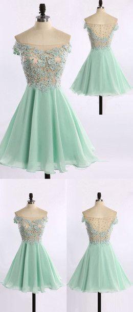 Short Homecoming Dress,Homecoming Dress,Mint Green Homecoming Dresses,Short Prom Dress