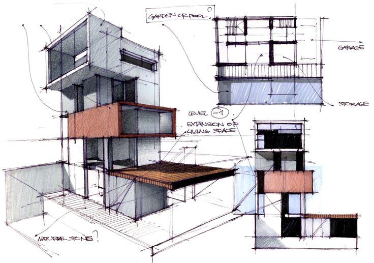 A collection of random concept sketches.