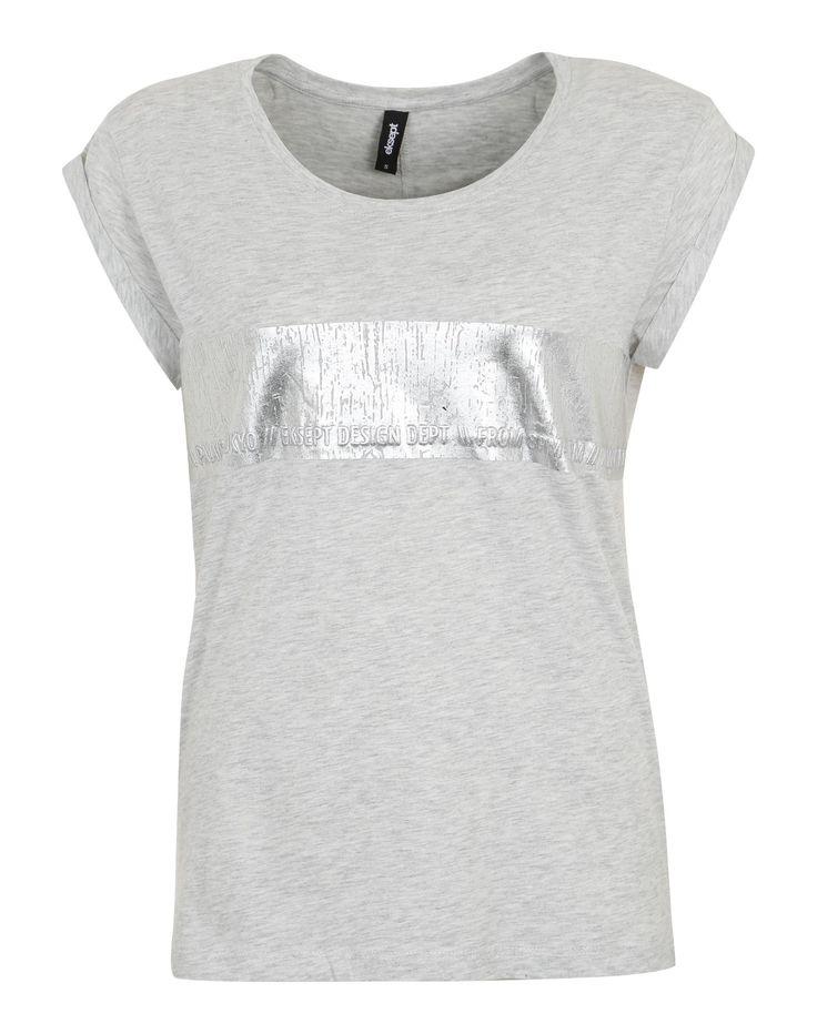 Eksept T-Shirt mit Metallic-Print in Grau bei ABOUT YOU bestellen. ✓Versandkostenfrei ✓Zahlung auf Rechnung ✓kostenlose Retoure