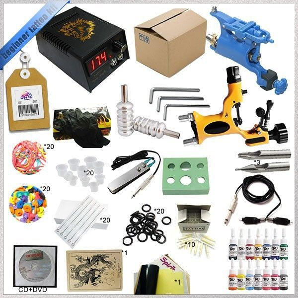 38.93$  Watch now  - 2015 HOT sals tattoo machine kit with dc power supply  and  Rotary Tattoo Machine Kit   transfer paper tattoo ink 5ml TK-2505