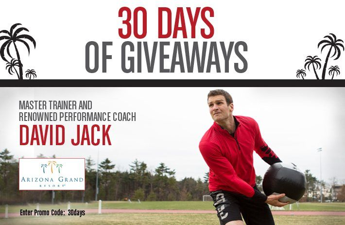 """ReebokONE presents 30 DAYS OF GIVEAWAYS sweepstakes! The ReebokONE team is giving away a $100 Reebok.com gift card to one lucky winner every day who signs up as a new member of the community.  One Grand Prize winner will receive a trip for 2 to Arizona Grand Resort to train with master trainer and renowned performance coach David Jack and $500 of Reebok product per month for a WHOLE YEAR! Join now by entering promo code """"30Days"""" when you sign up.  For official contest rules, click the…"""