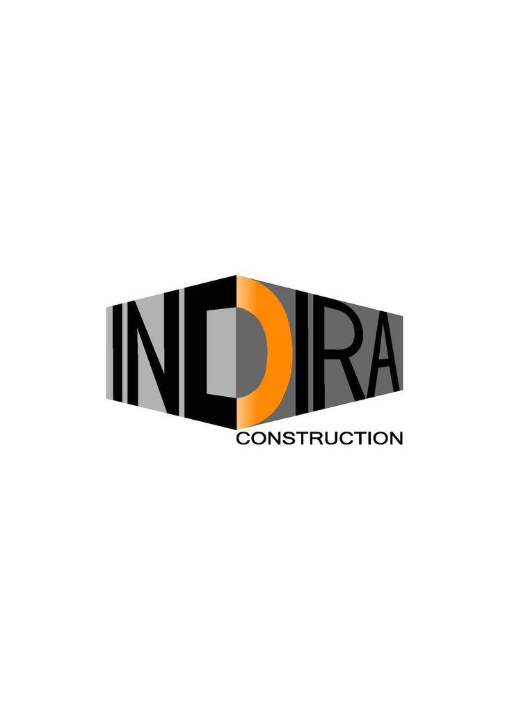 Indira Construction Logo - 3D Design
