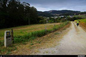 Traseu cu bicicleta MTB XC El Camino de Santiago del Norte - 9: Vilela - Gondan - Lourenza - Mondonedo - Gontan . MTB Ride El Camino de Santiago del Norte - 9: Vilela - Gondan - Lourenza - Mondonedo - Gontan - Galicia, Spania