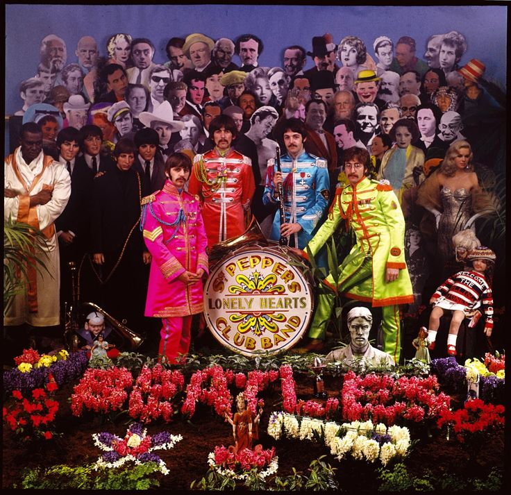 Behind the Scenes Photos of The Beatles During Their Photo Shoot for Sgt. Pepper's Album Cover in 1967