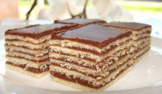 My four sons love this layered chocolate slice