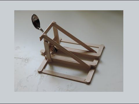 How To Make A Spoon Catapult Out Of Popsicle Sticks. (HD) - YouTube