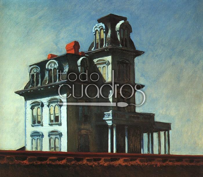 Casa Junto a la Vía del Tren, cuadro de Hopper, comprar en la tienda.