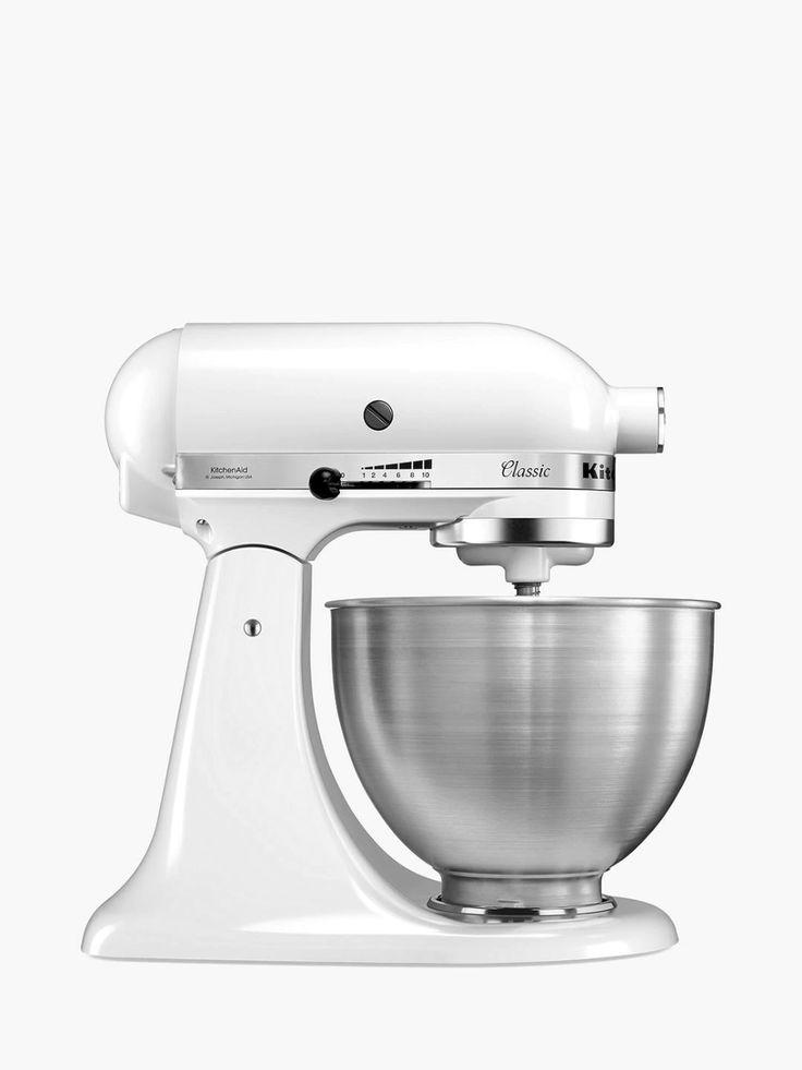 Kitchenaid 5k45ssbfw classic 43l stand mixer white in