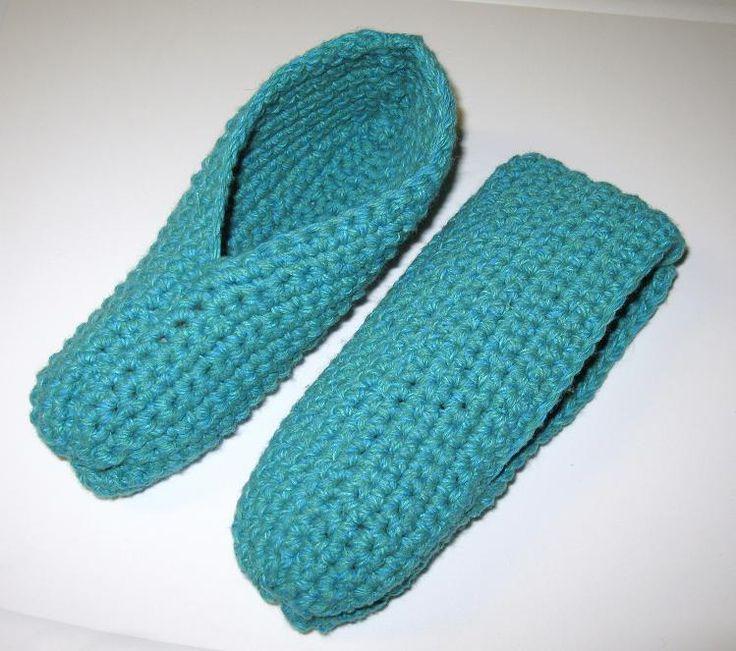Pantoufles simples au crochet                                                                                                                                                                                 Plus