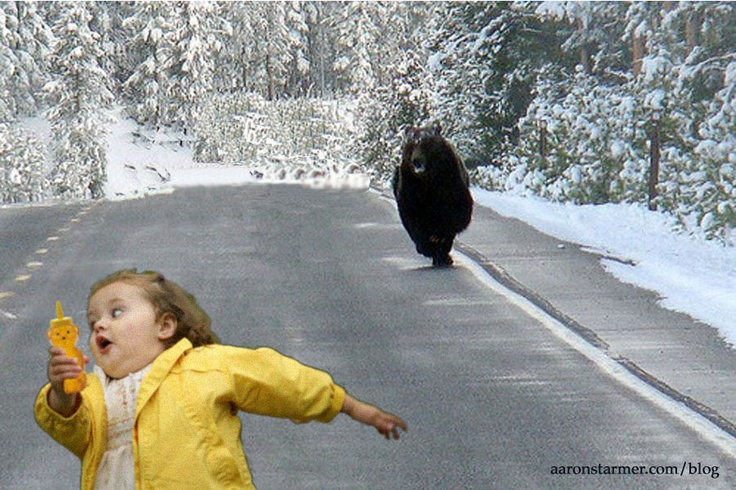 Funny Running Away Pictures