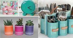 Apunta estas buenas ideas para reciclar latas