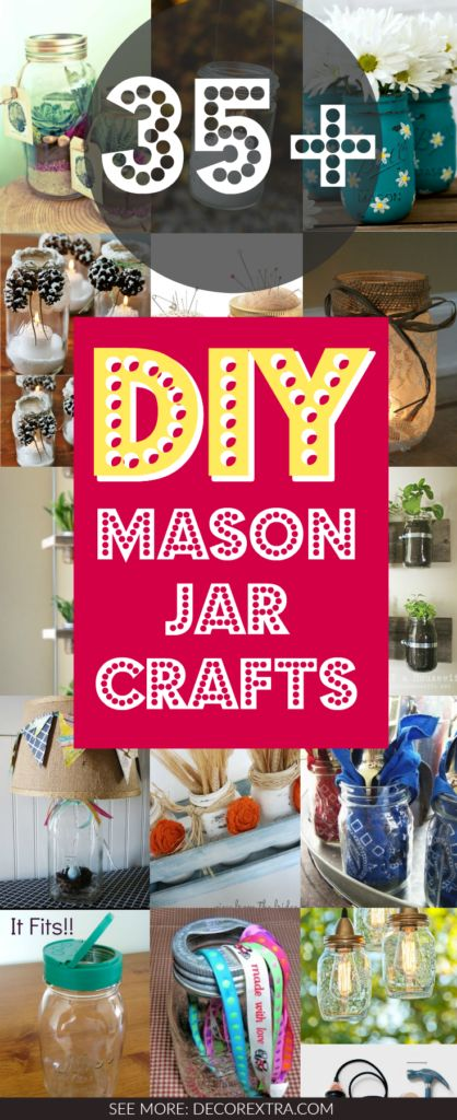 WOW! Do It Yourself Mason Jar Crafts for the Home, You'll like these amazing mason jar DIYs.