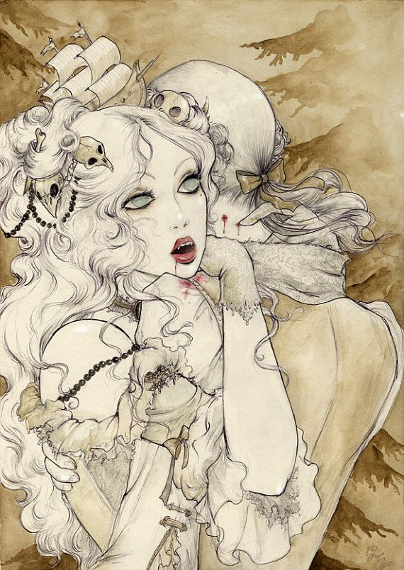 Vampires Illustration by BlackUnicornShop                                                                                                                                                                                 More