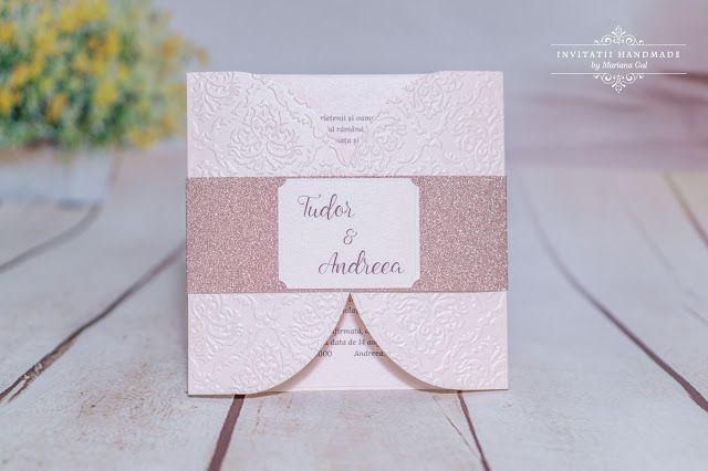INVITATII HANDMADE by Mariana Gal: Soft pink & rose gold