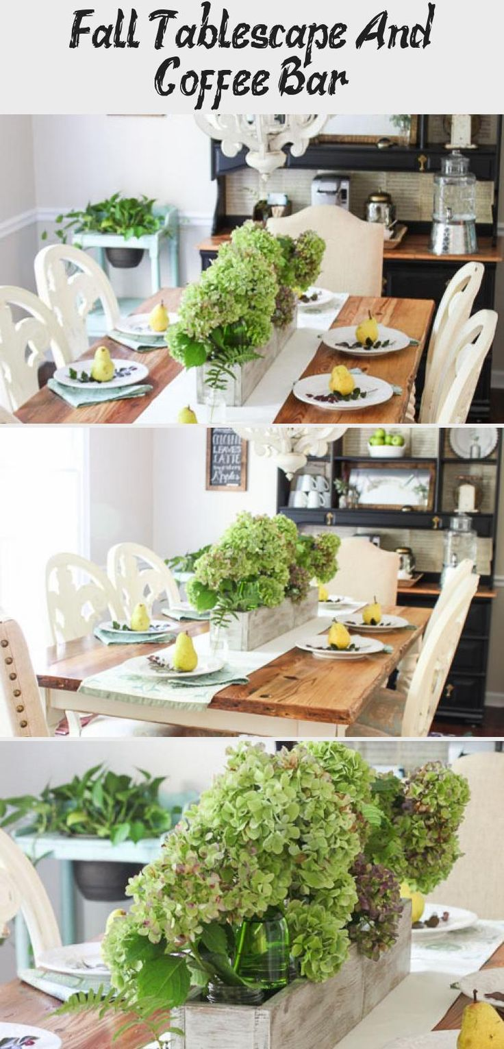 Fall Tablescape And Coffee Bar Home coffee stations