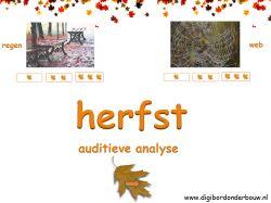 Digibordles: Herfst auditieve analyse (lettergrepen klappen) http://digibordonderbouw.nl/index.php/themas/herfst/herfstalgemeen/viewcategory/170