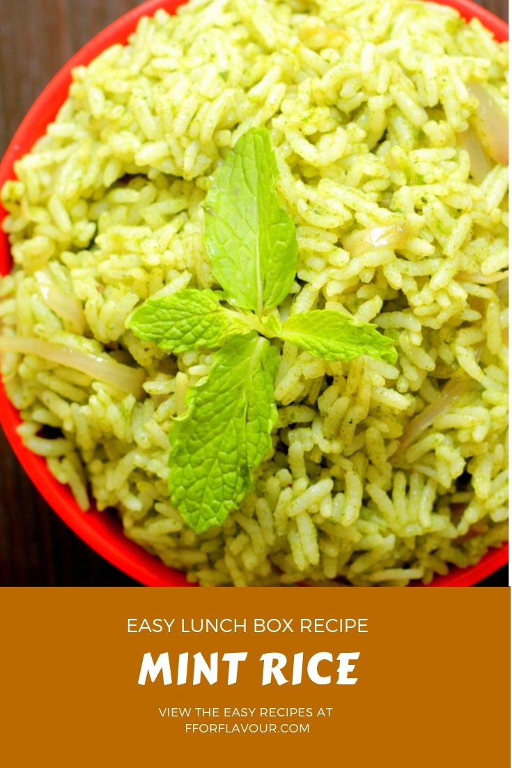 Mint Rice Pudhina Rice Recipe Indian Food Rice Recipes