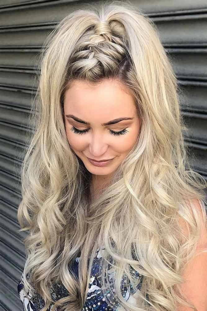 30 Perfect Half Up Half Down Ponytail Ideas Lovehairstyles Com Braidedmowhawk In 2020 Hair Styles Braided Hairstyles Easy Easy Hairstyles For Long Hair