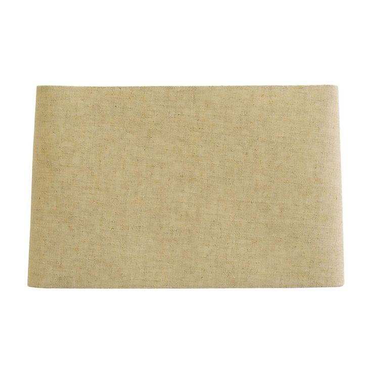 allen roth 10in x 16in tan linen fabric rectangular lamp shade - Rectangular Lamp Shades