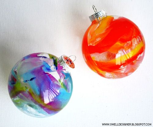 How-To: Melted Crayon Ornaments