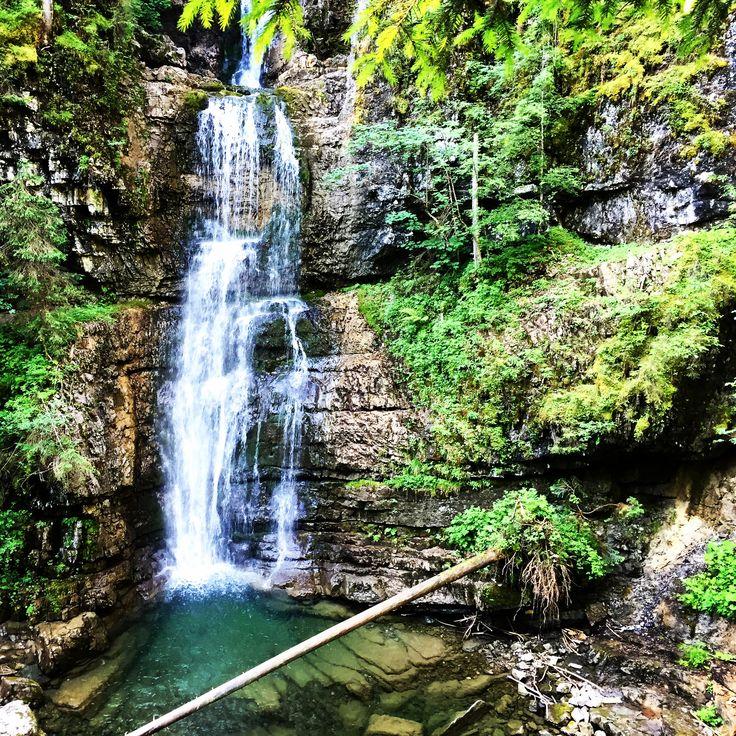 Wasserfall Waterfall Schwarzwasserbach Kleinwalsertal Vorarlberg Austria
