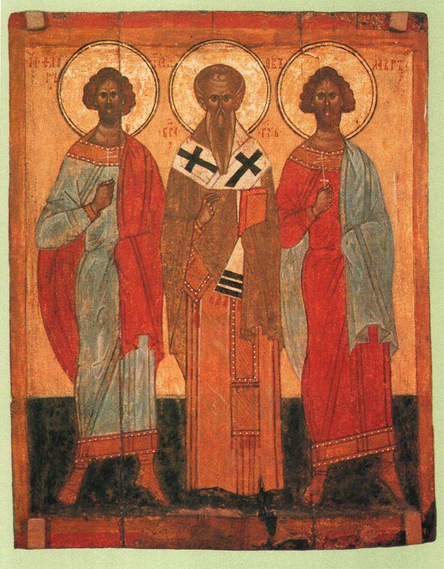 Конец  XIV  начало  XV в.   Флор,  Иаков, и  Лавр