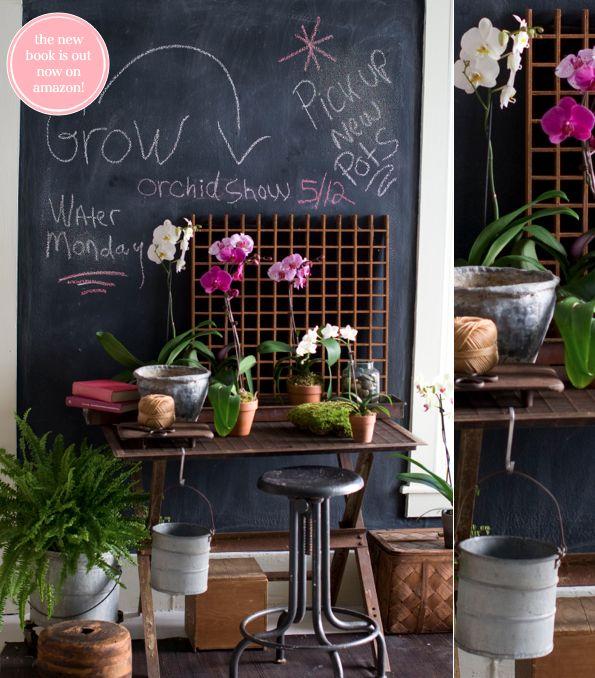 flower studio // styling by Matthew Mead in Flea Market Finds book via Bright Bazaar