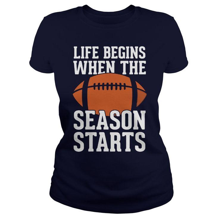 WHEN THE SEASON STARTS FOOTBALL  TSHIRT - WHEN THE SEASON STARTS FOOTBALL T-SHIRT  #funnyshirts #awesomeshirts #Football #Footballshirts Football Tshirts