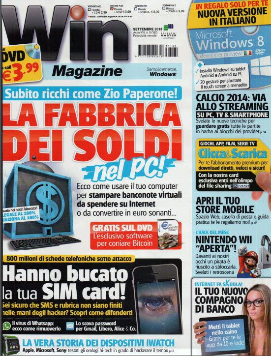 Win Magazine Italia N. 182 - Settembre 2013 Italian | PDF Scans | 130 pages | 120,6 Mb