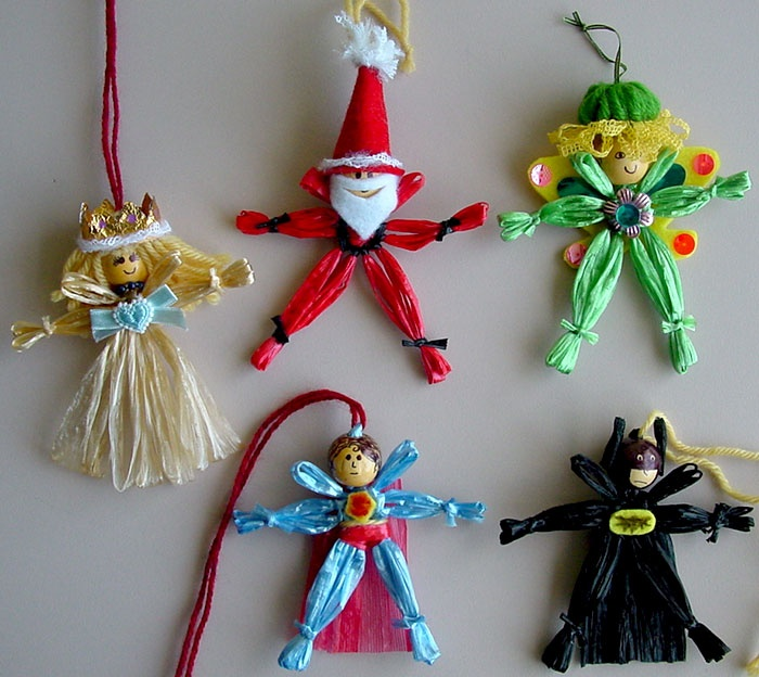 Loom Knit Christmas Ornaments Part - 34: How To Make Small Flower Loom People To Use As Ornaments And Decorations