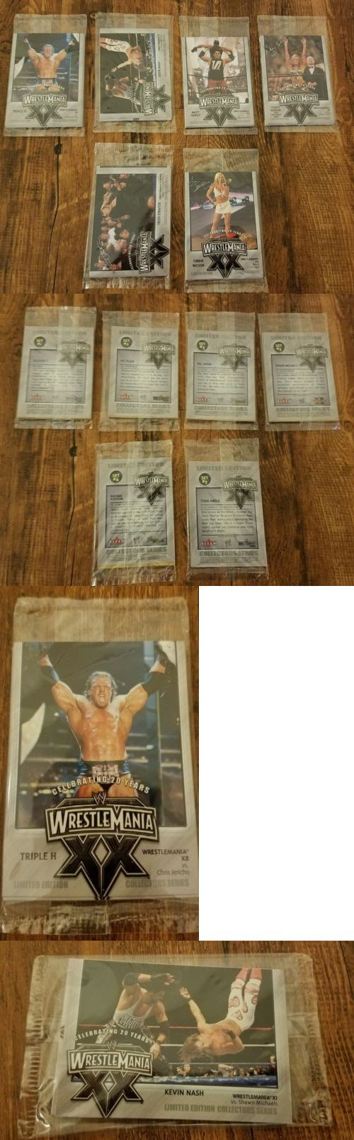 Wrestling Cards 183435: New Rare Unopened Fleer Wwe Wrestlemania Xx Ppv Promotional Cards (6 Of 8 Set) -> BUY IT NOW ONLY: $100 on eBay!