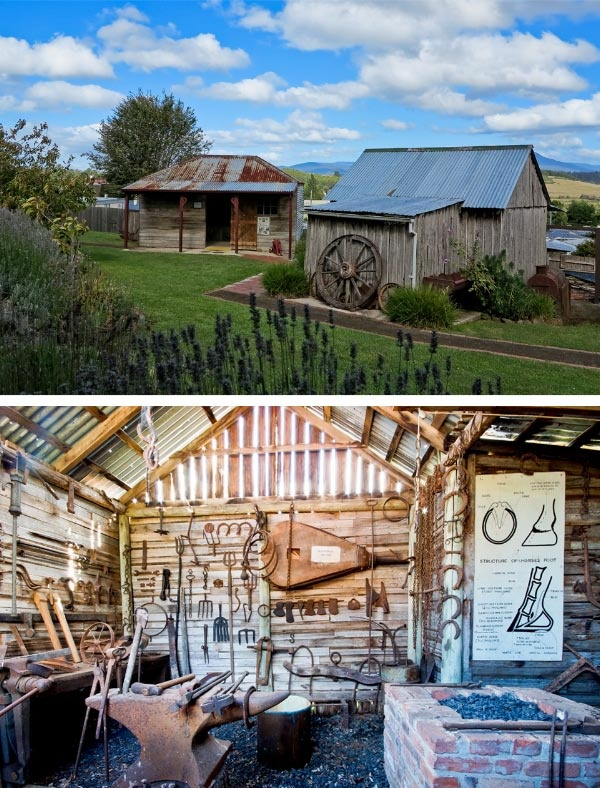 Deloraine and Districts Folk Museum - Pioneer Walk, The Blacksmith's Shop. Photo by @Carol M Haberle, article for Think Tasmania.