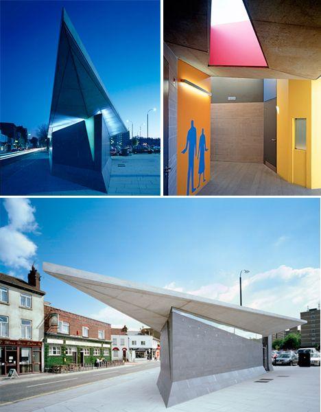 Impressive public restroom design. Gravesend, UK.