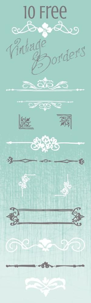 10 Free Vintage Border Graphics for your Printables & Digital Designs by sarah.laughren.1