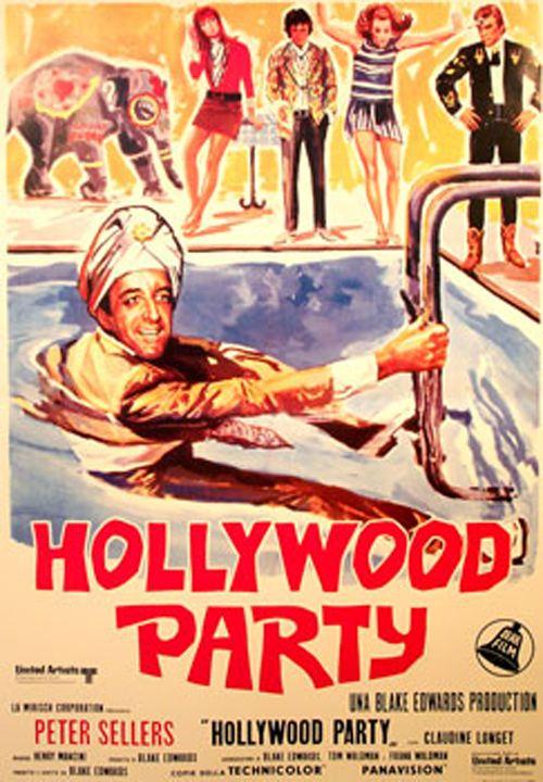 """Blake Edwards, 1968. Hollywood Party. The Party starring Peter Sellers, Claudine Longet, Natalia Borisova, Jean Carson, Marge Champion.  Hrundi V. Bakshi (Peter Sellers)   """"Saggezza è compagna di vecchiaia, ma il cuore di un fanciullo è puro."""""""