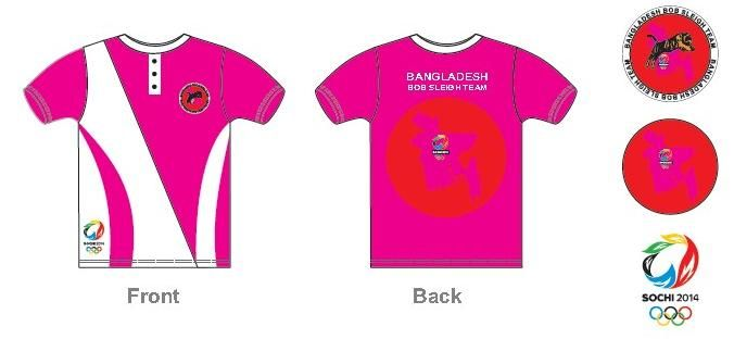 Design for Pink Bobsleigh Team Shirts