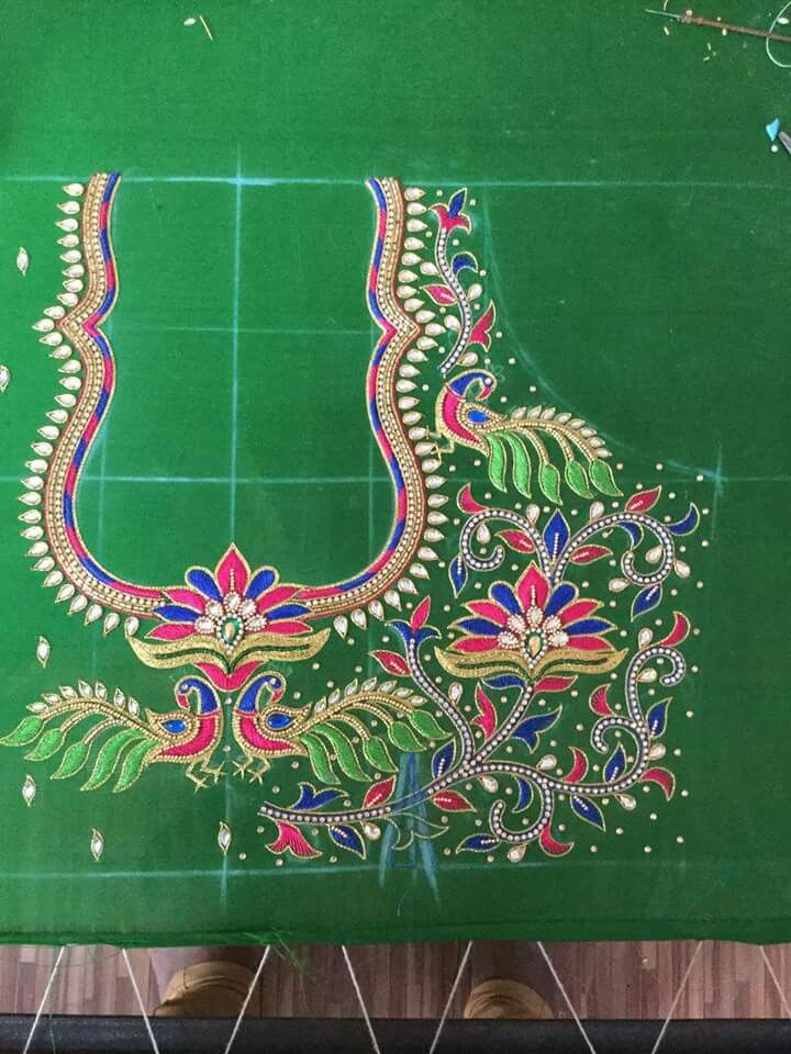 359 Best Pearl Work Desigs Images On Pinterest | Embroidery Designs Hand Embroidery And ...