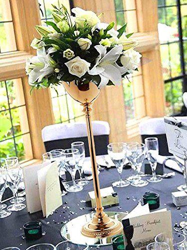 efavormart 2 sets 30 tall gold metallic floral vase w candle rh pinterest com