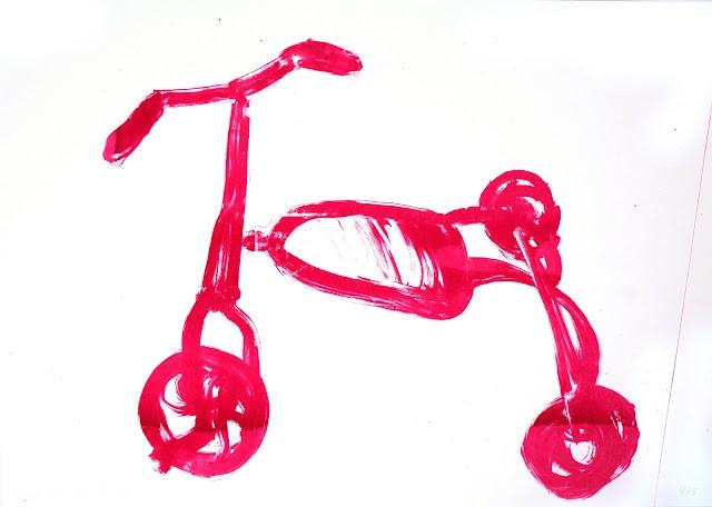 Magdalena Ollén: toys on wheels, screen prints